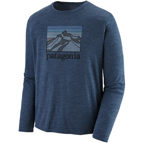 Patagonia Cap Cool Daily Graphic T-shirt à manches longues Homme, line logo ridge/stone blue x-dye